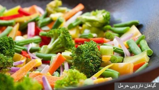 عکس گیاهان دارویی فواید و مزایای خام گیاه خواری و مضرات غذاهای صنعتی